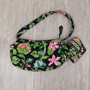 Vera Bradley quilt botanical shoulder bag wallet